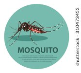 Illustration.  Mosquito Cartoon