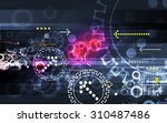 technology  abstract  background | Shutterstock . vector #310487486