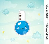 cute thermometer  cold...   Shutterstock .eps vector #310505246