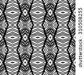 vector monochrome ethnic... | Shutterstock .eps vector #310508255