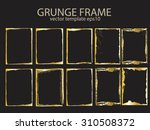 grunge golden background set... | Shutterstock .eps vector #310508372