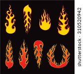 set of fire elements and... | Shutterstock .eps vector #310520942