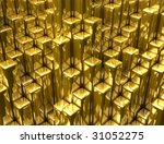 gold columns - stock photo