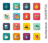 christmas  universal flat icons ... | Shutterstock .eps vector #310539722