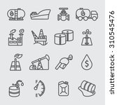 Oil Industry Line Icon