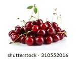 Small photo of Cherries isolated on white