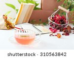 Dried Flowers With A Cup Of Tea