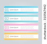 business infographics tabs...   Shutterstock .eps vector #310567442