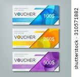 gift voucher template with... | Shutterstock .eps vector #310571882