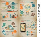 set infographic on the topic of ... | Shutterstock .eps vector #310582802