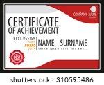 horizontal certificate template ... | Shutterstock .eps vector #310595486