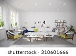 interior of cozy vacation house ... | Shutterstock . vector #310601666