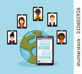 social media design  vector... | Shutterstock .eps vector #310602926