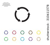 undo icon  back arrow symbol   Shutterstock .eps vector #310611578