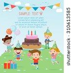 illustration of kids in a... | Shutterstock .eps vector #310613585