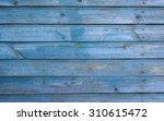 Light Blue Wooden House Wall...