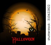 halloween background with text... | Shutterstock .eps vector #310622822
