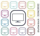 vector illustration of computer ... | Shutterstock .eps vector #310623032