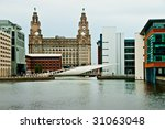 Liverpool Liver Building With...