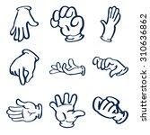 cartoon gloved hands. clip art... | Shutterstock . vector #310636862