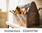 wooden toolbox on the table | Shutterstock . vector #310643786