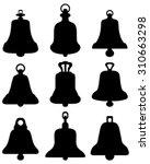 Silhouette Of Bells  Vector