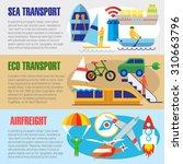 set of flat design concepts of... | Shutterstock .eps vector #310663796