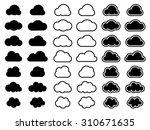 cloud icons | Shutterstock .eps vector #310671635