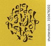 modern vector hand written... | Shutterstock .eps vector #310678202