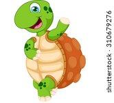 cartoon turtle waving hand ...   Shutterstock . vector #310679276