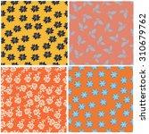 floral seamless pattern set  ... | Shutterstock .eps vector #310679762