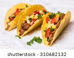 mexican food   delicious tacos... | Shutterstock . vector #310682132