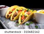 mexican food   delicious tacos... | Shutterstock . vector #310682162