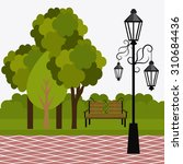 Green Park Design  Vector...