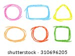 colored round  square ... | Shutterstock .eps vector #310696205