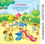 children playing in the... | Shutterstock .eps vector #310721726
