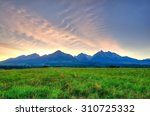 summer mountain landscape.... | Shutterstock . vector #310725332