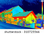 infrared thermovision image...   Shutterstock . vector #310725566
