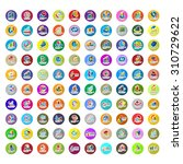 graph icons set   isolated on...