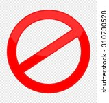 prohibited | Shutterstock .eps vector #310730528