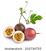 passion fruit isolated on white ... | Shutterstock . vector #310734755