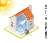 home cooling system air... | Shutterstock .eps vector #310744526