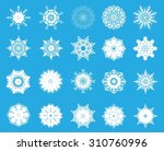 a set of twenty beautiful... | Shutterstock .eps vector #310760996