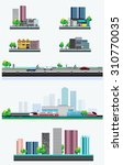 vector design   eps10 city... | Shutterstock .eps vector #310770035