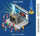 indie music webstar pop rock... | Shutterstock .eps vector #310771376