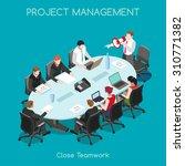 sales lead business leader... | Shutterstock .eps vector #310771382
