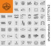 vector car parts set outline...