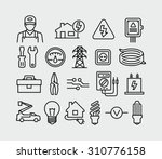 vector electricity outline... | Shutterstock .eps vector #310776158