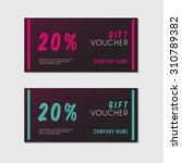 voucher template with premium... | Shutterstock .eps vector #310789382