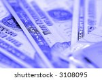 credit card and dollars with... | Shutterstock . vector #3108095